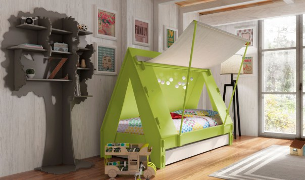Chrildrens furniutre - Green tent bed