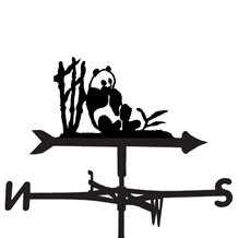 panda weather vane