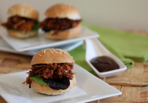 Black Beer Pulled-Pork Sliders