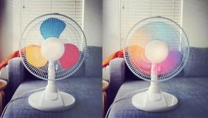 rainbow fan