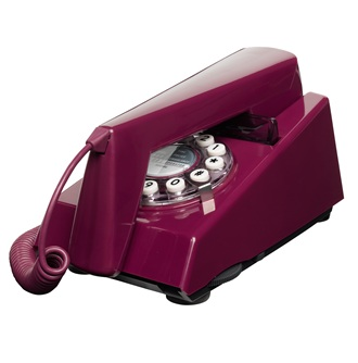 retro purple phone