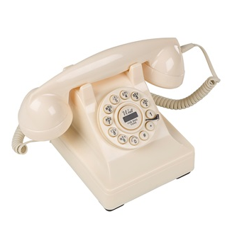 retro telephone in cream