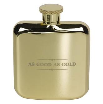 ted baker gold hip flask