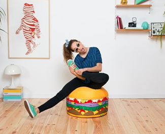 mini burger bean bag