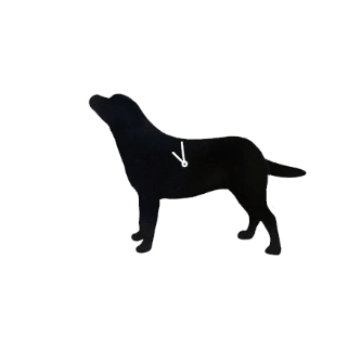 labrador Wagging Tail Wall Clock
