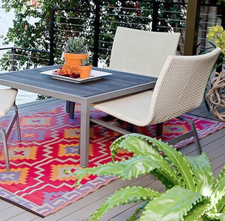Fab Habitat designed Lhasa outdoor rug