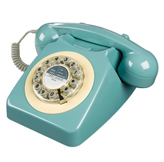 french blue vintage phone