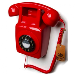 red wall telephone