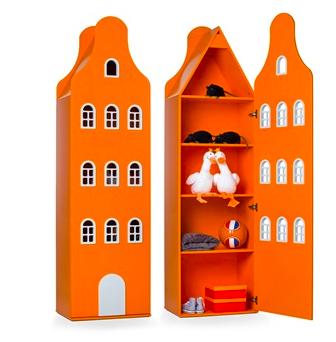 kids orange wardrobe