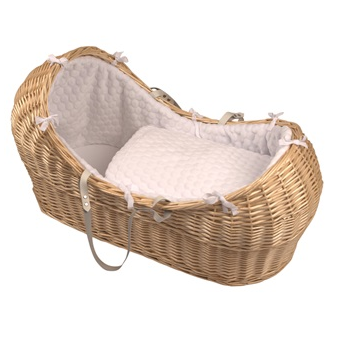 Moses Basket Natural Wicker Snooze Pod