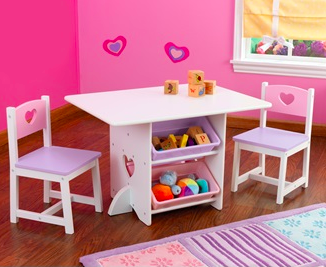 girls table and chairs set