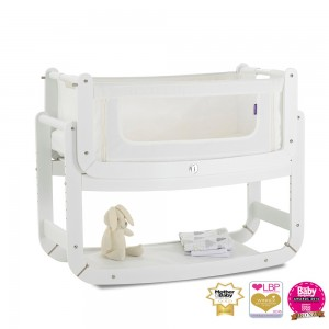 Snuzpod-Bedside-Cribs-In-White-UK