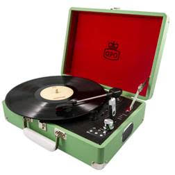 GPO Record Player in retro green design