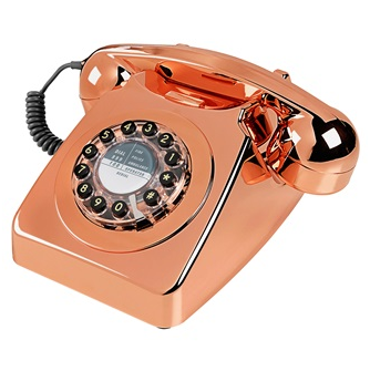 GPO vintage telephone in copper