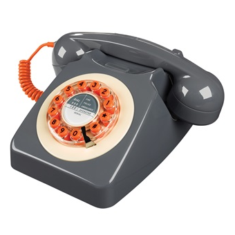Vintage telephone in 60's design