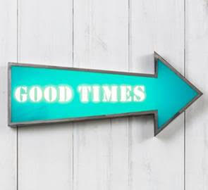 Light Sign in Good Times Design