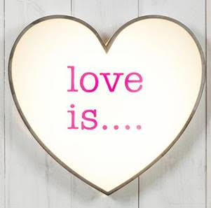 Love Is Light Up Sign by Jasmine Living