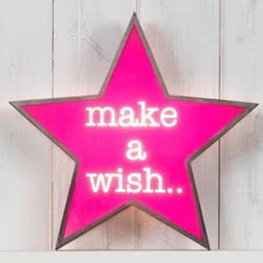 Make A Wish design light up  sign by jasmine living