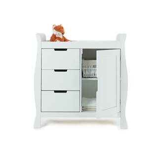Lincoln dresser in white by Obaby