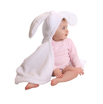 Clair De Lune Blanket with bunny ears