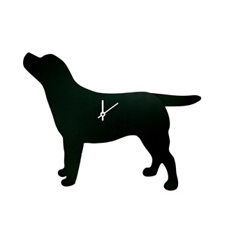 labrador dog clock with moving tail