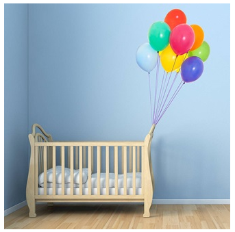 Colourful Balloon Wall Stickers