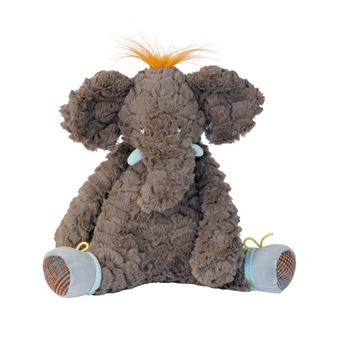 Designer soft toy in elephant design