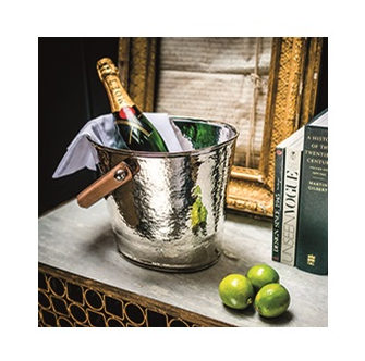 Wine Cooler with Champagne Hammered Finish