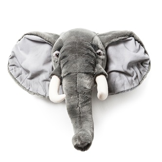 Kids Elephant Plush Animal Head