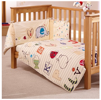 Clair De Lune ABC Design cot bedding