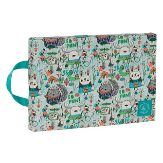 Vibrant Woodland Animal theme Kids Kneeling Pad
