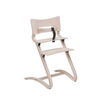 Designer high chair in whitewash