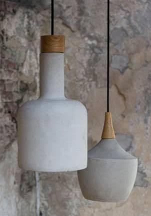 mango wood and concrete light