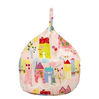Kids Bean Bag In Pink House Design