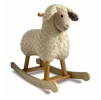Lamb Design Rocker by Little Bird Told Me