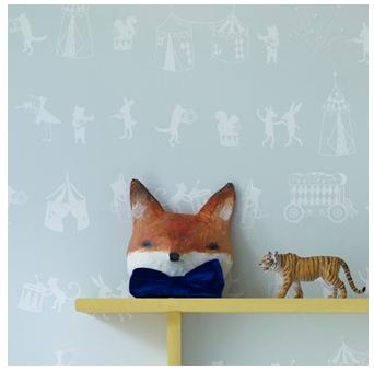 Hibou home designer nursery wallpaper