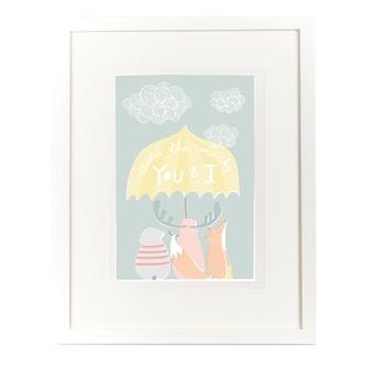 Designer nursery wall print by Olli Ella