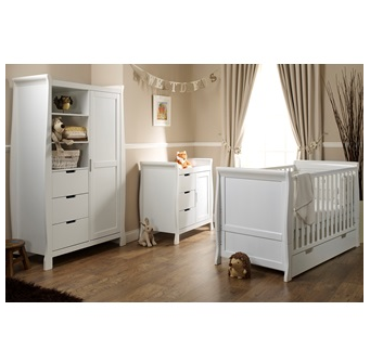 Lincoln three piece nursery set in white