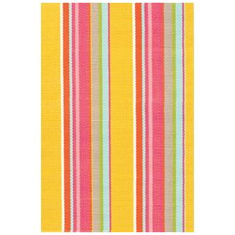 Dash & Albert Outdoor Rug In Happy Yellow