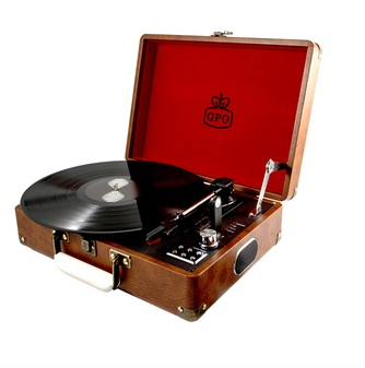 Vinyl record player by GPO