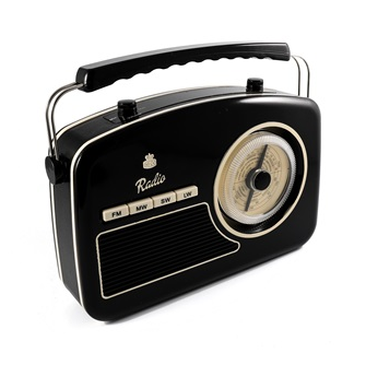 Retro Radio by GPO in black