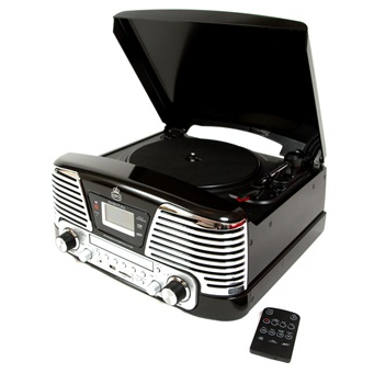 Vinyl Turntable with mp3, Radio & CD Deck