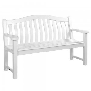 Garden Bench in White from £325