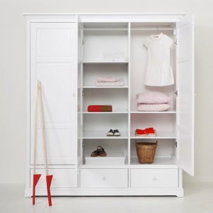 Oliver Furniture White Wardrobe from £1675