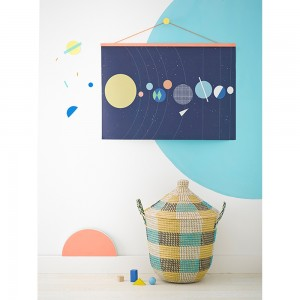 Olli-Ella-Room-With-Solar-System-Map