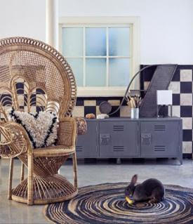 Elegant Peacock Rattan Chair