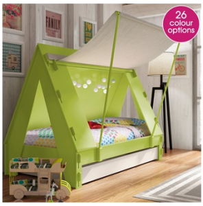 Kids Tent Cabin Bed in Green