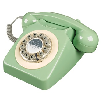 Wild & Wolf Retro Telephone in Swedish Green
