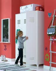 Kids Locker Style 2 Door Cabinet