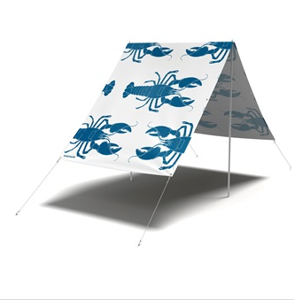 Fieldcandy sun shade in lobster design